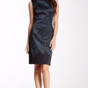 Elie Tahari Holly Dress | 10 | Teal & Black Dress